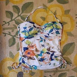 Tommy bahama floral side rushed floral tankini top